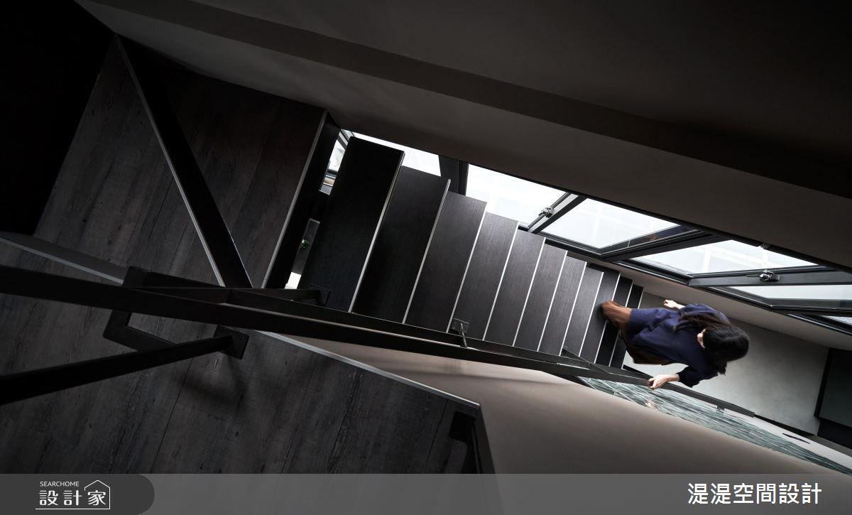 40坪老屋(16~30年)_混搭風樓梯案例圖片_湜湜空間設計_湜湜_24之24
