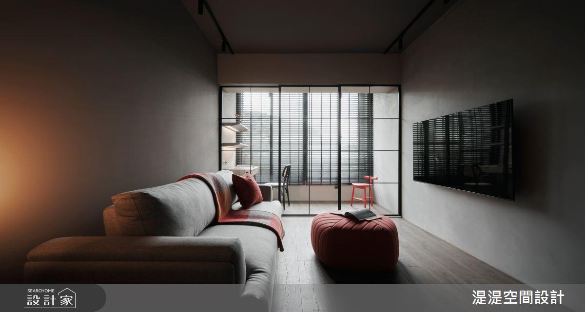 26坪中古屋(5~15年)_混搭風客廳案例圖片_湜湜空間設計_湜湜_26之2