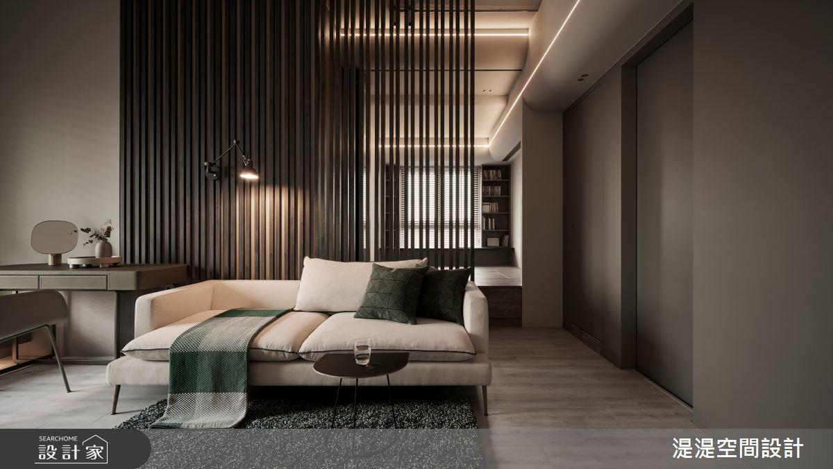 20坪新成屋(5年以下)_混搭風客廳案例圖片_湜湜空間設計_湜湜_27之4
