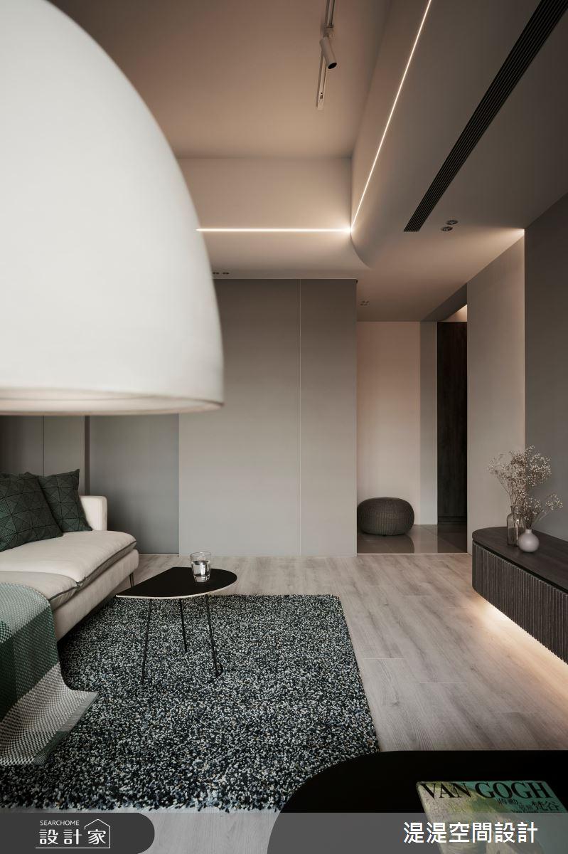 20坪新成屋(5年以下)_混搭風客廳案例圖片_湜湜空間設計_湜湜_27之5