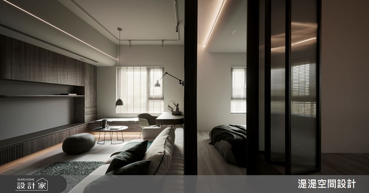 20坪新成屋(5年以下)_混搭風客廳案例圖片_湜湜空間設計_湜湜_27之7