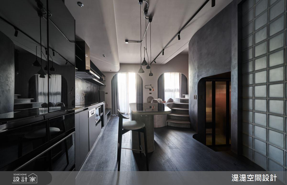 17坪新成屋(5年以下)_混搭風餐廳中島案例圖片_湜湜空間設計_湜湜_28之2