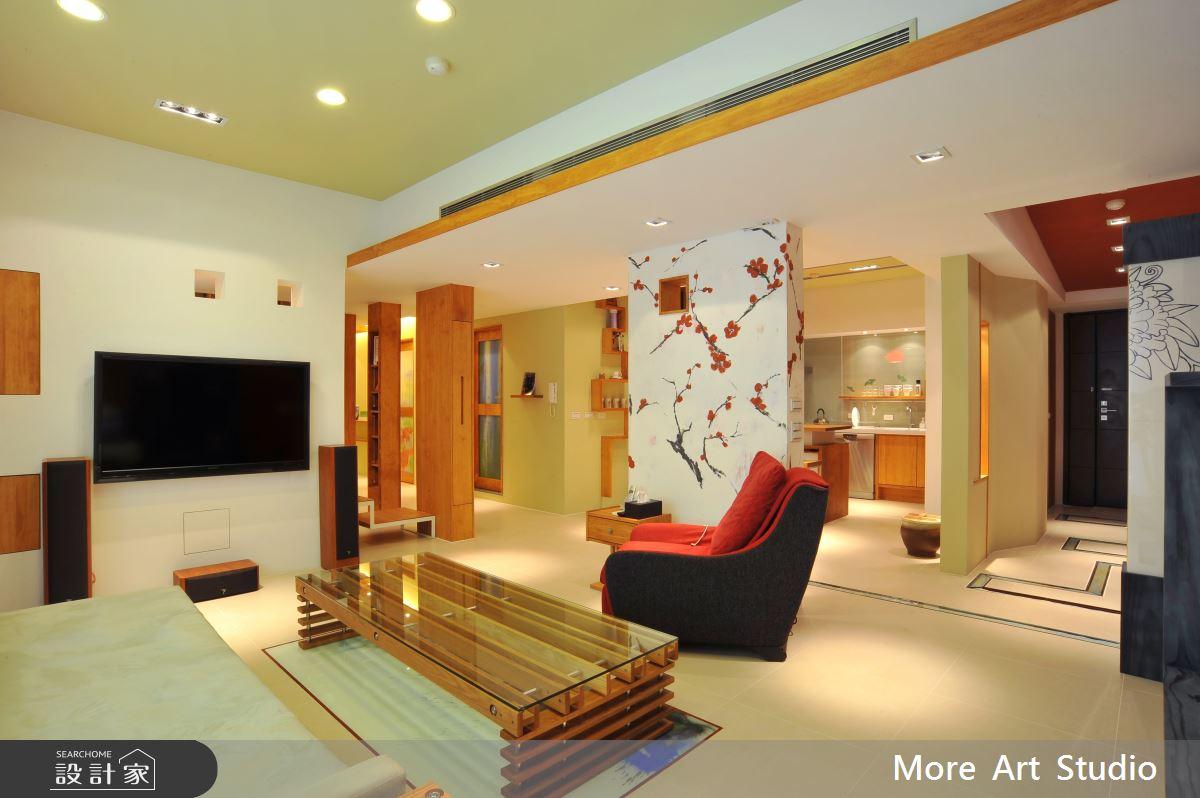 45坪新成屋(5年以下)_混搭風客廳案例圖片_木耳生活藝術_木耳_01之3
