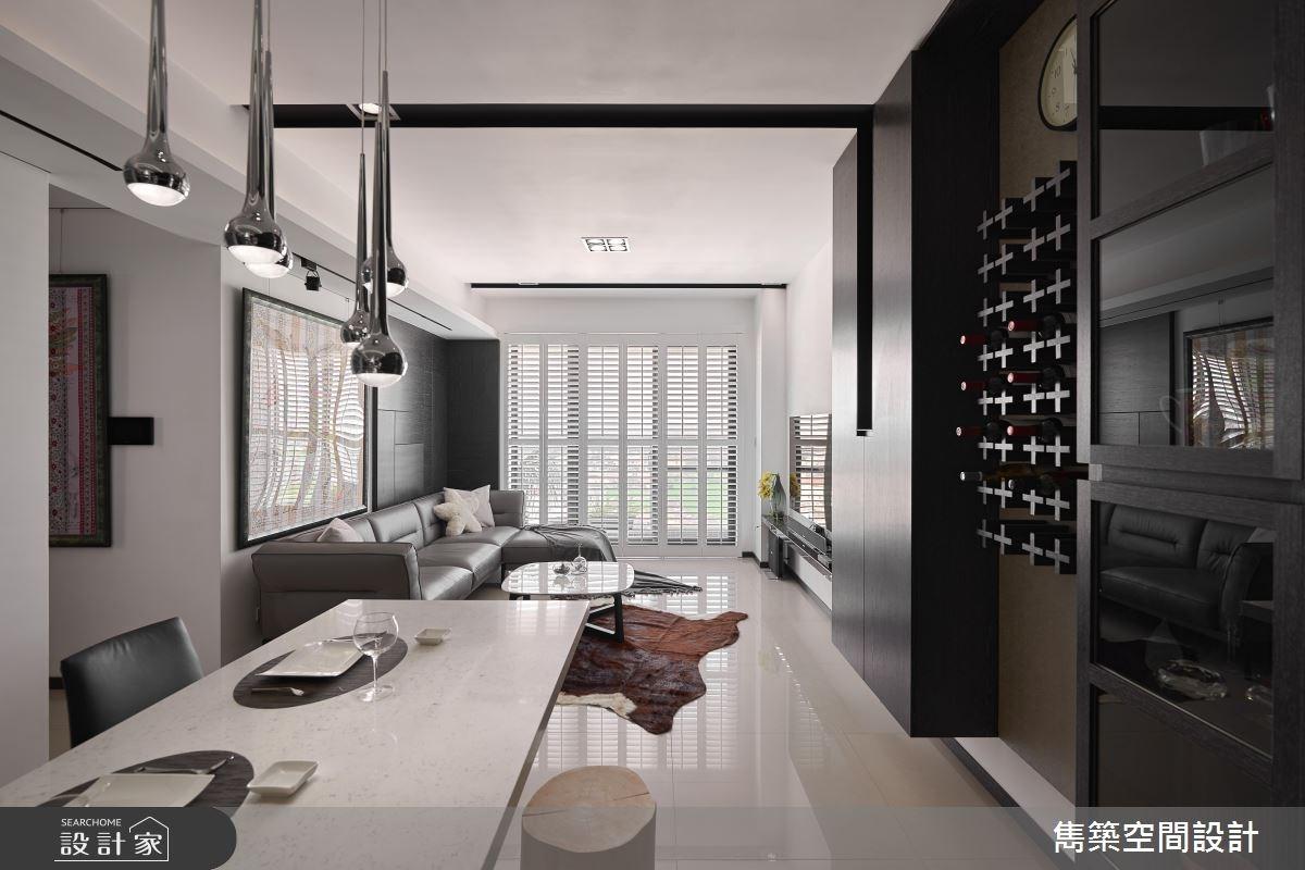 22坪預售屋_現代風客廳餐廳案例圖片_雋築空間設計_雋築_05之1