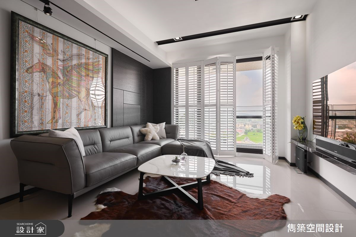 22坪預售屋_現代風客廳案例圖片_雋築空間設計_雋築_05之3