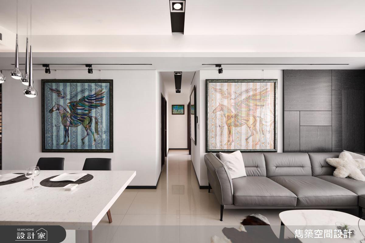 22坪預售屋_現代風客廳餐廳案例圖片_雋築空間設計_雋築_05之6