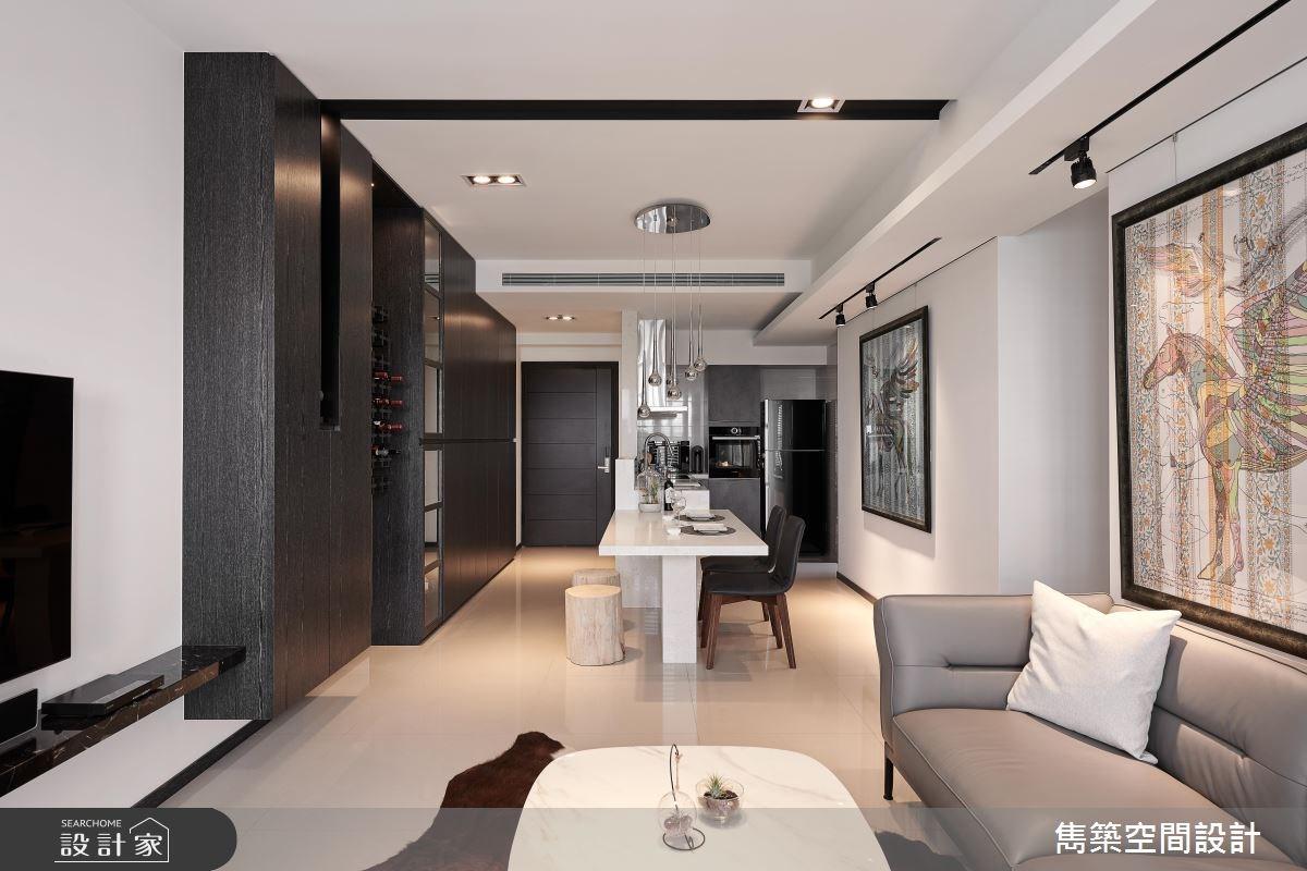 22坪預售屋_現代風玄關客廳餐廳廚房案例圖片_雋築空間設計_雋築_05之7