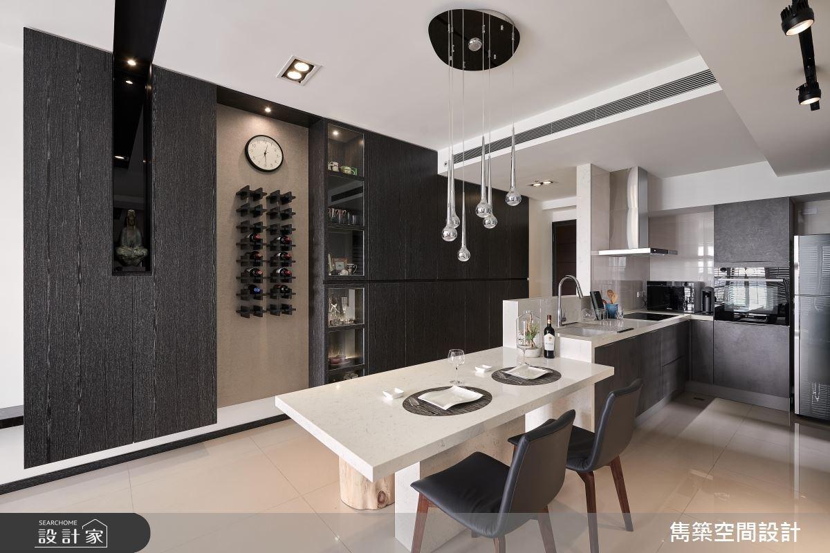 22坪預售屋_現代風玄關餐廳廚房案例圖片_雋築空間設計_雋築_05之9