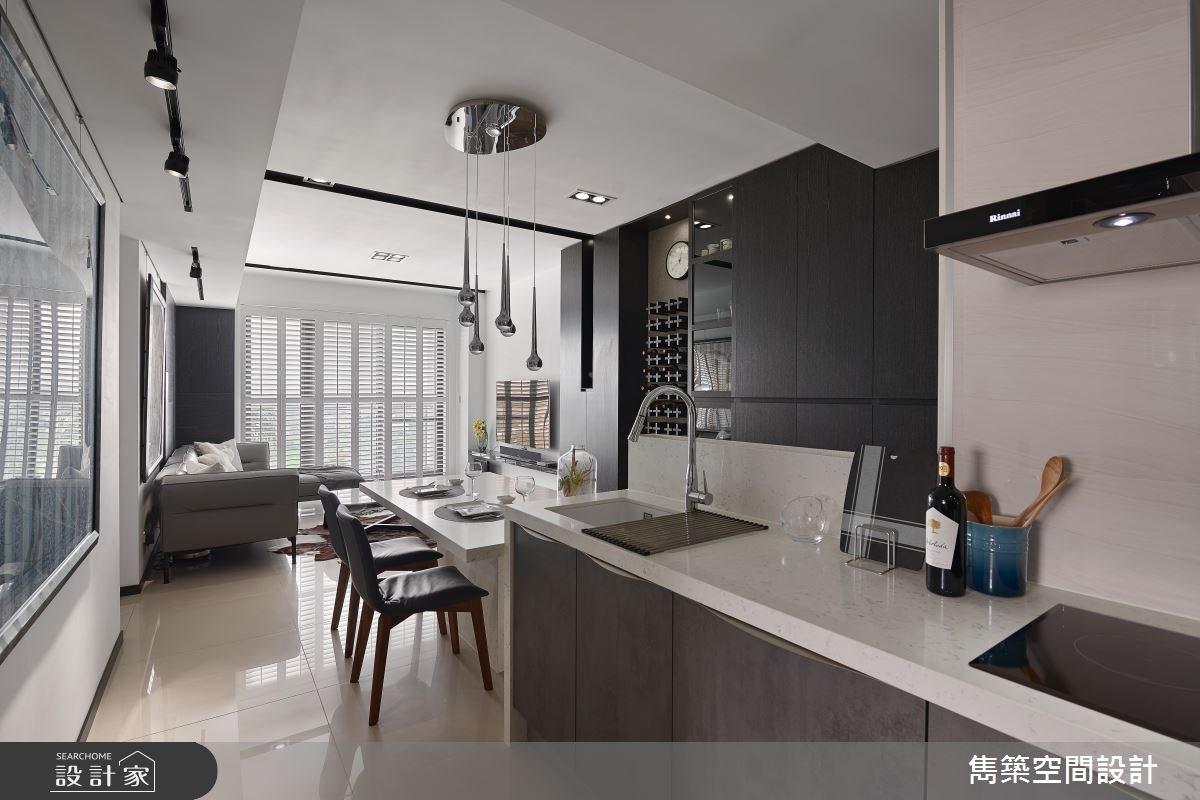 22坪預售屋_現代風客廳餐廳廚房案例圖片_雋築空間設計_雋築_05之11