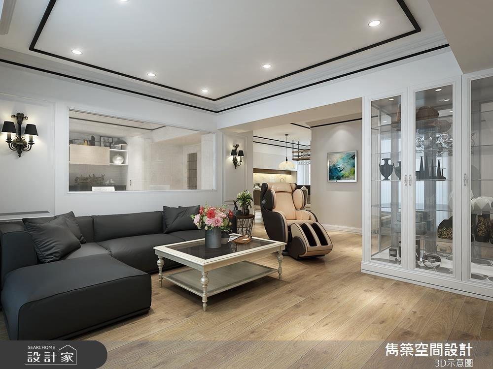 30坪老屋(16~30年)_美式風客廳案例圖片_雋築空間設計_雋築_06之2