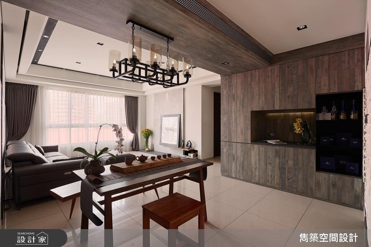 27坪新成屋(5年以下)_現代風客廳餐廳案例圖片_雋築空間設計_雋築_10之2