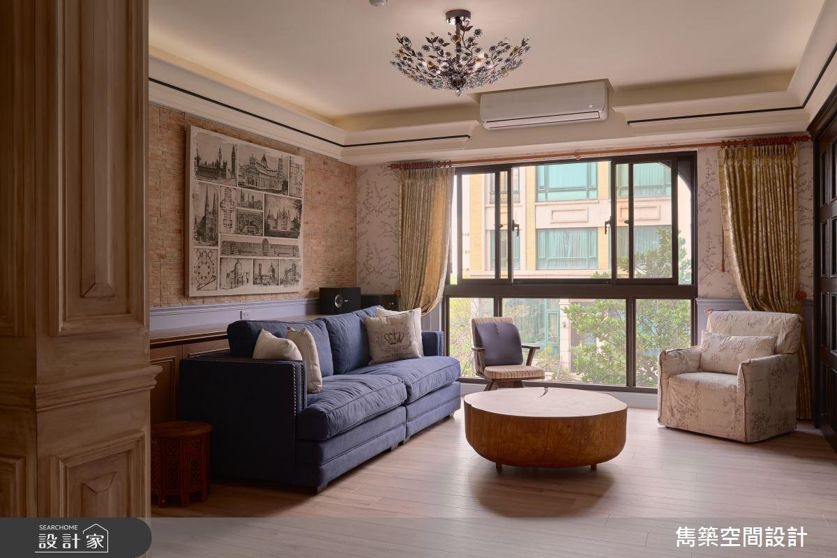 43坪新成屋(5年以下)_美式風客廳案例圖片_雋築空間設計_雋築_11之4