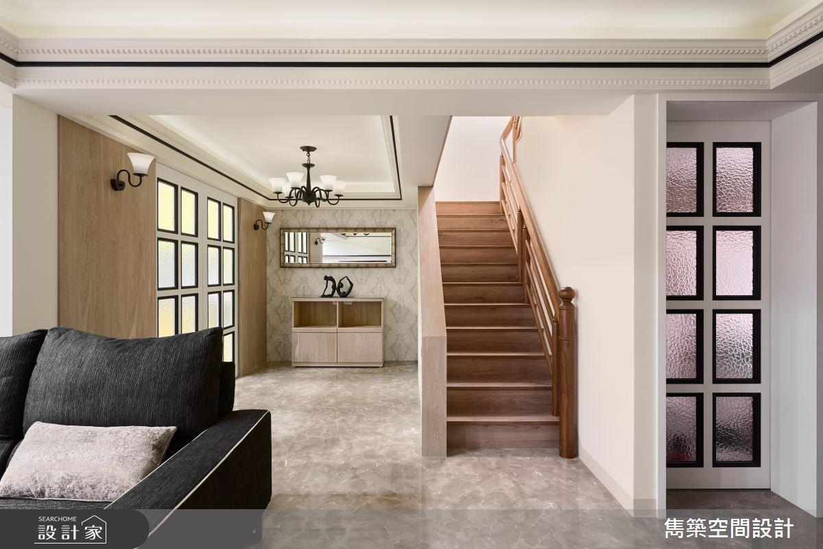 55坪中古屋(5~15年)_新中式風客廳樓梯案例圖片_雋築空間設計_雋築_12之3
