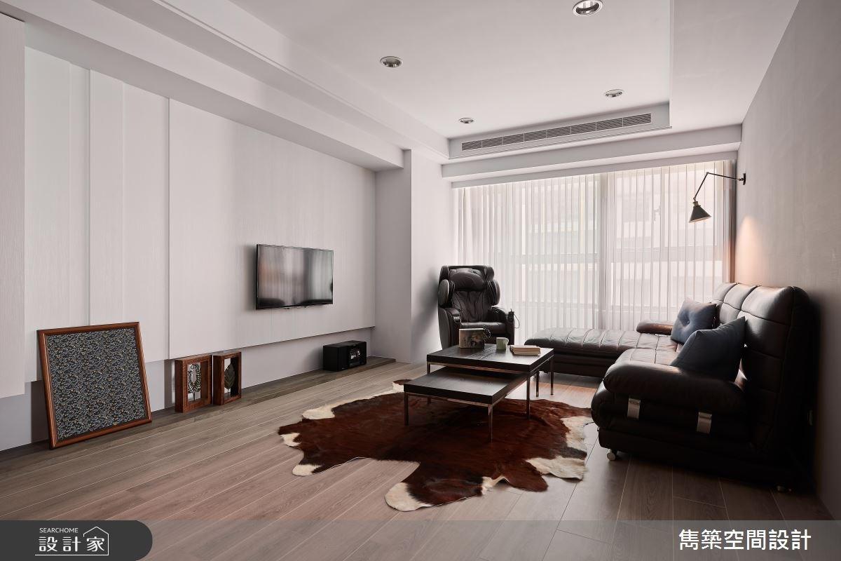 25坪中古屋(5~15年)_北歐風客廳案例圖片_雋築空間設計_雋築_15之3