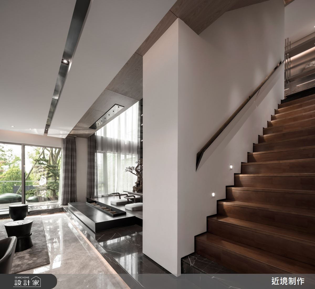 45坪新成屋(5年以下)_人文風樓梯案例圖片_近境制作_近境制作_86之14