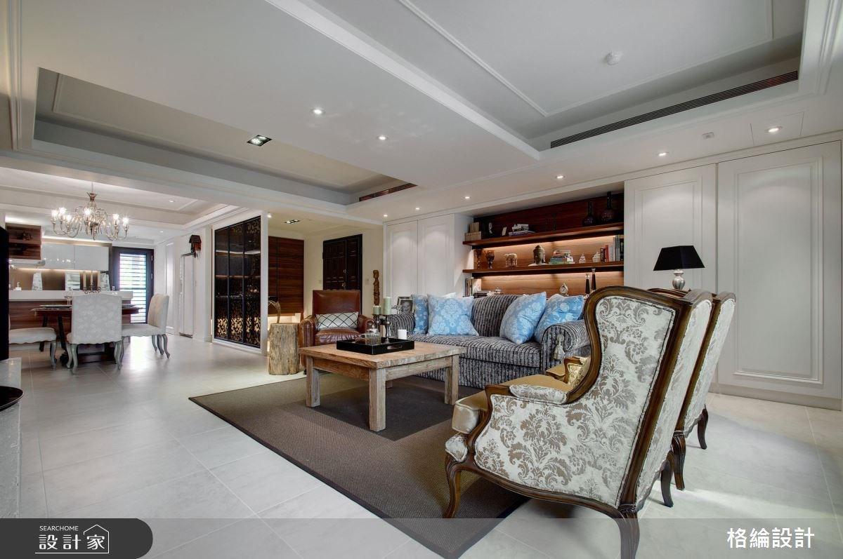 50坪中古屋(5~15年)_混搭風客廳案例圖片_格綸設計 Guru Interior Design Consultant_格綸_01之4
