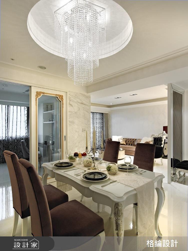 33坪新成屋(5年以下)_新古典餐廳案例圖片_格綸設計 Guru Interior Design Consultant_格綸_02之8