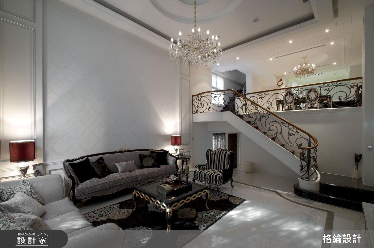 180坪中古屋(5~15年)_新古典客廳樓梯案例圖片_格綸設計 Guru Interior Design Consultant_格綸_04之2