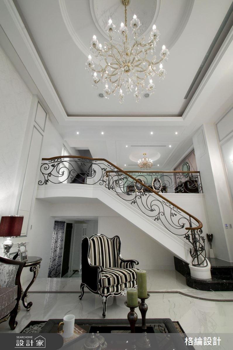 180坪中古屋(5~15年)_新古典客廳樓梯案例圖片_格綸設計 Guru Interior Design Consultant_格綸_04之4