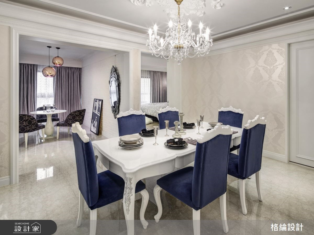 45坪新成屋(5年以下)_新古典餐廳案例圖片_格綸設計 Guru Interior Design Consultant_格綸_05之8