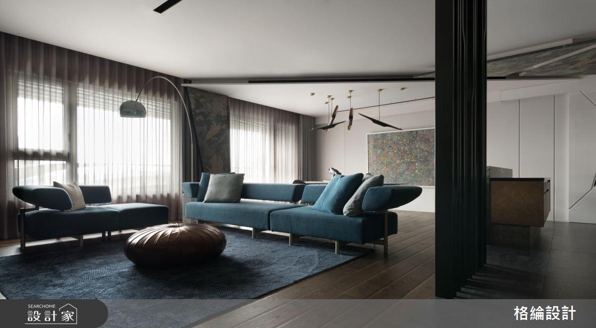 68坪新成屋(5年以下)_現代風客廳案例圖片_格綸設計 Guru Interior Design Consultant_格綸_06之3
