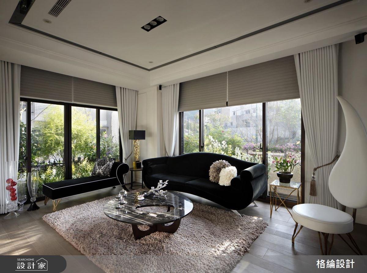 70坪新成屋(5年以下)_新古典客廳案例圖片_格綸設計 Guru Interior Design Consultant_格綸_09之1