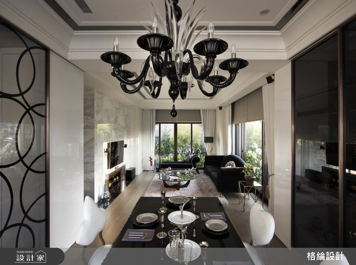 70坪新成屋(5年以下)_新古典客廳餐廳案例圖片_格綸設計 Guru Interior Design Consultant_格綸_09之6