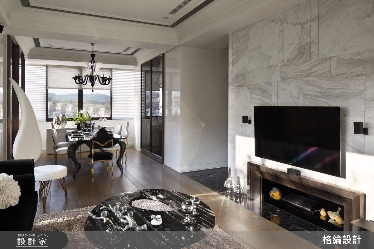70坪新成屋(5年以下)_新古典客廳餐廳案例圖片_格綸設計 Guru Interior Design Consultant_格綸_09之7