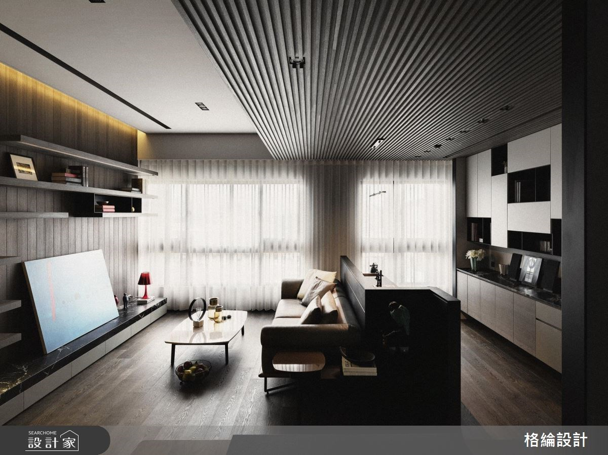 29坪新成屋(5年以下)_現代風客廳工作區案例圖片_格綸設計 Guru Interior Design Consultant_格綸_16之3