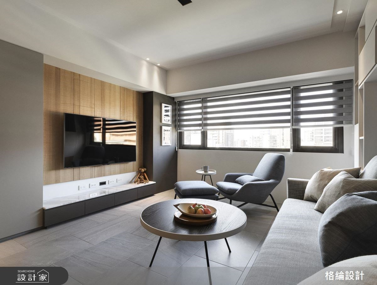 25坪中古屋(5~15年)_簡約風客廳案例圖片_格綸設計 Guru Interior Design Consultant_格綸_17之3