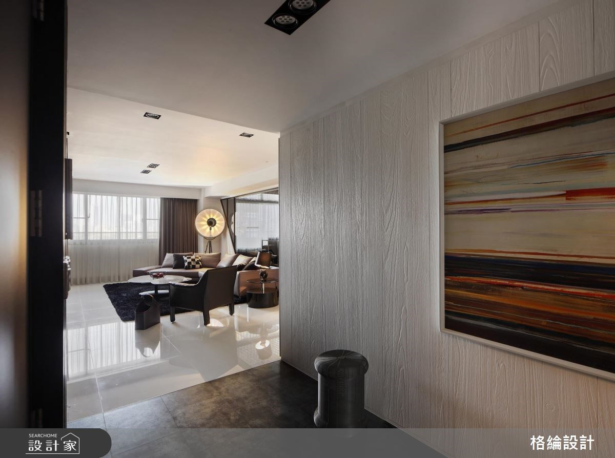 55坪新成屋(5年以下)_現代風玄關客廳案例圖片_格綸設計 Guru Interior Design Consultant_格綸_21之4