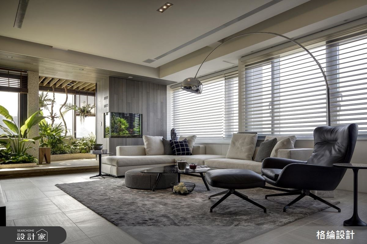 60坪新成屋(5年以下)_現代風客廳案例圖片_格綸設計 Guru Interior Design Consultant_格綸_22之2