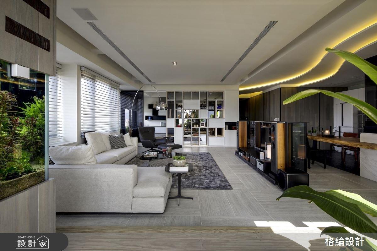 60坪新成屋(5年以下)_現代風客廳案例圖片_格綸設計 Guru Interior Design Consultant_格綸_22之4