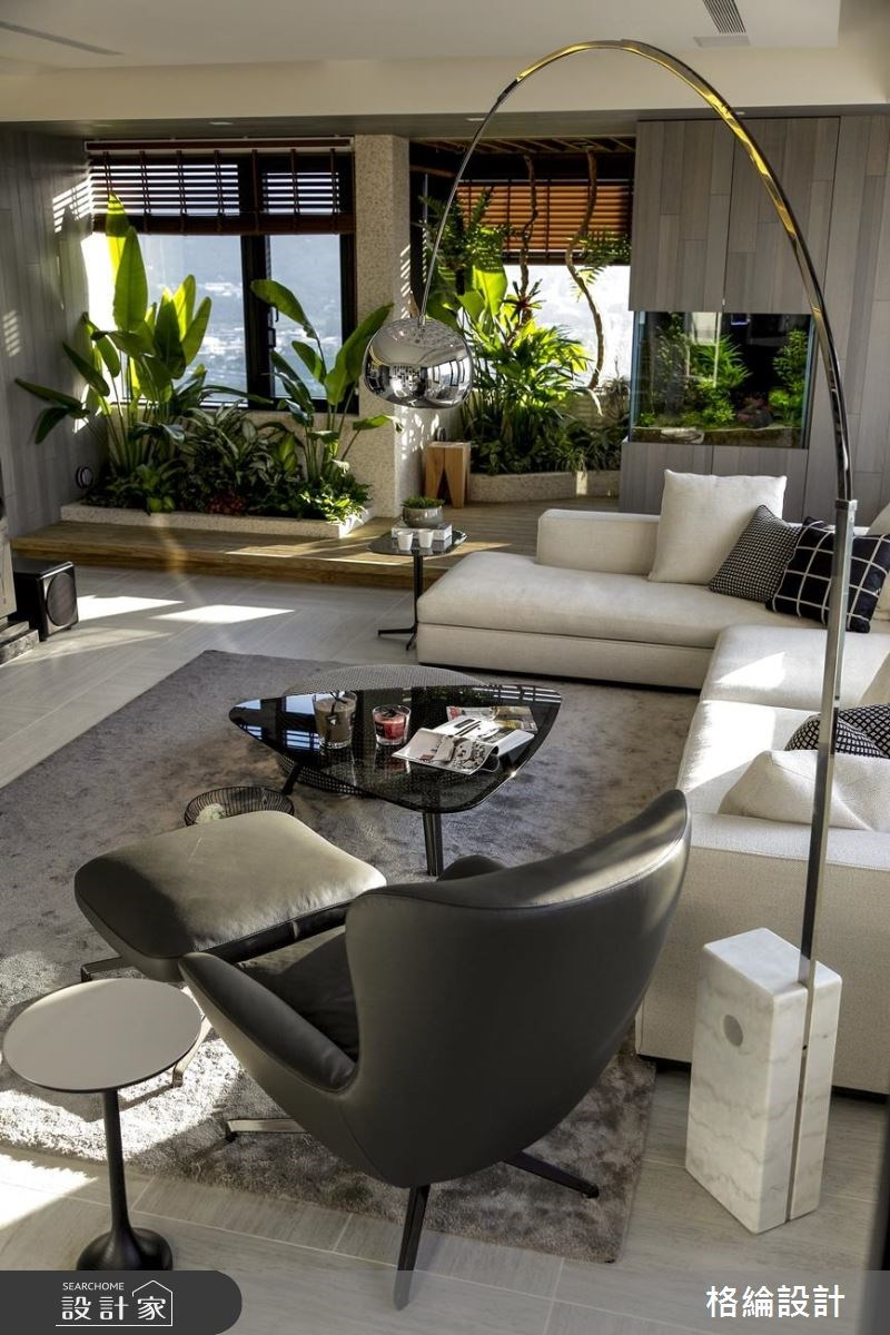 60坪新成屋(5年以下)_現代風客廳案例圖片_格綸設計 Guru Interior Design Consultant_格綸_22之7