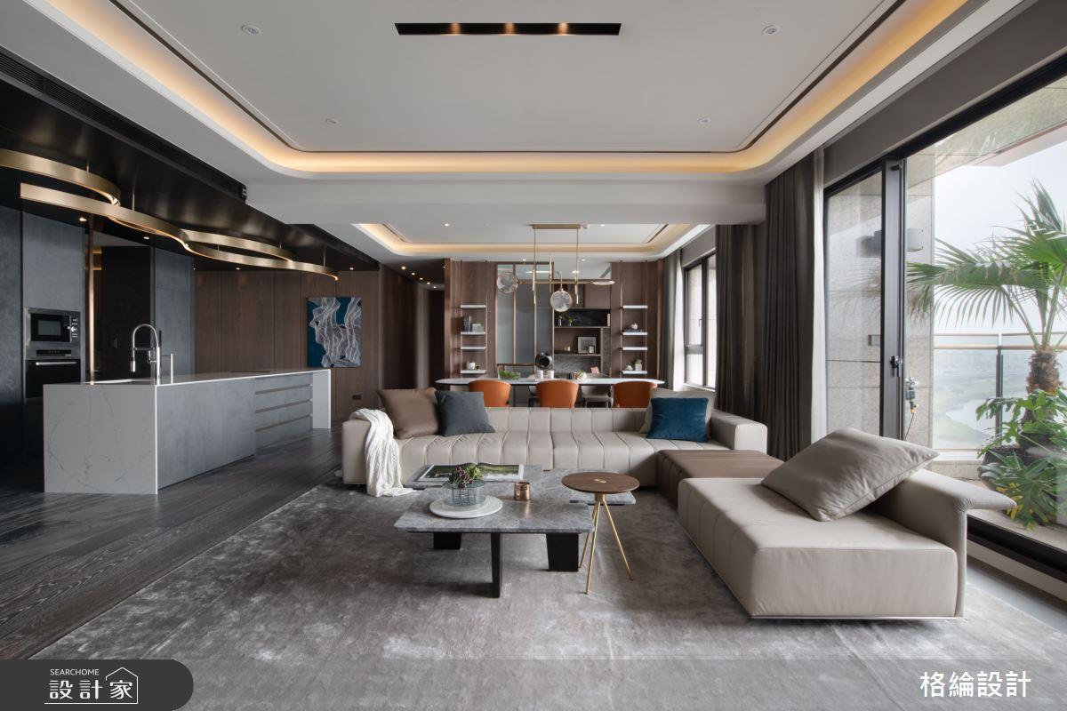 65坪_現代風客廳案例圖片_格綸設計 Guru Interior Design Consultant_格綸_24之2