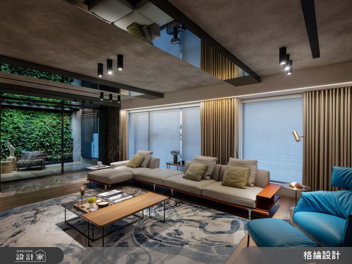 70坪_現代風客廳案例圖片_格綸設計 Guru Interior Design Consultant_格綸_25之4