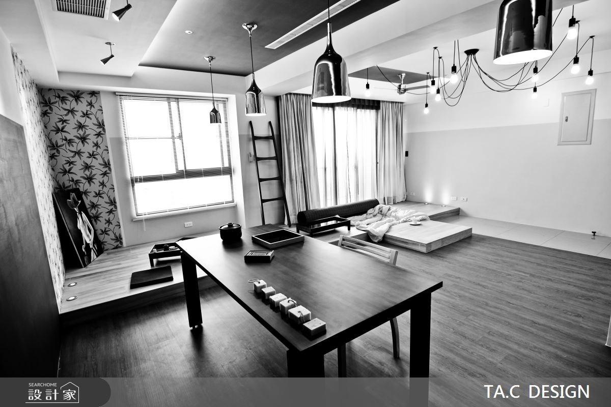 25坪新成屋(5年以下)_混搭風客廳餐廳工作區案例圖片_太工創作設計_太工_01之3
