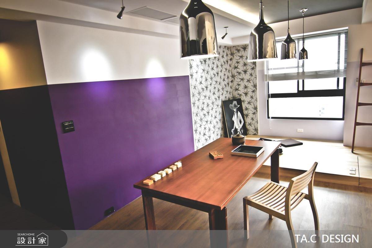 25坪新成屋(5年以下)_混搭風餐廳工作區案例圖片_太工創作設計_太工_01之4