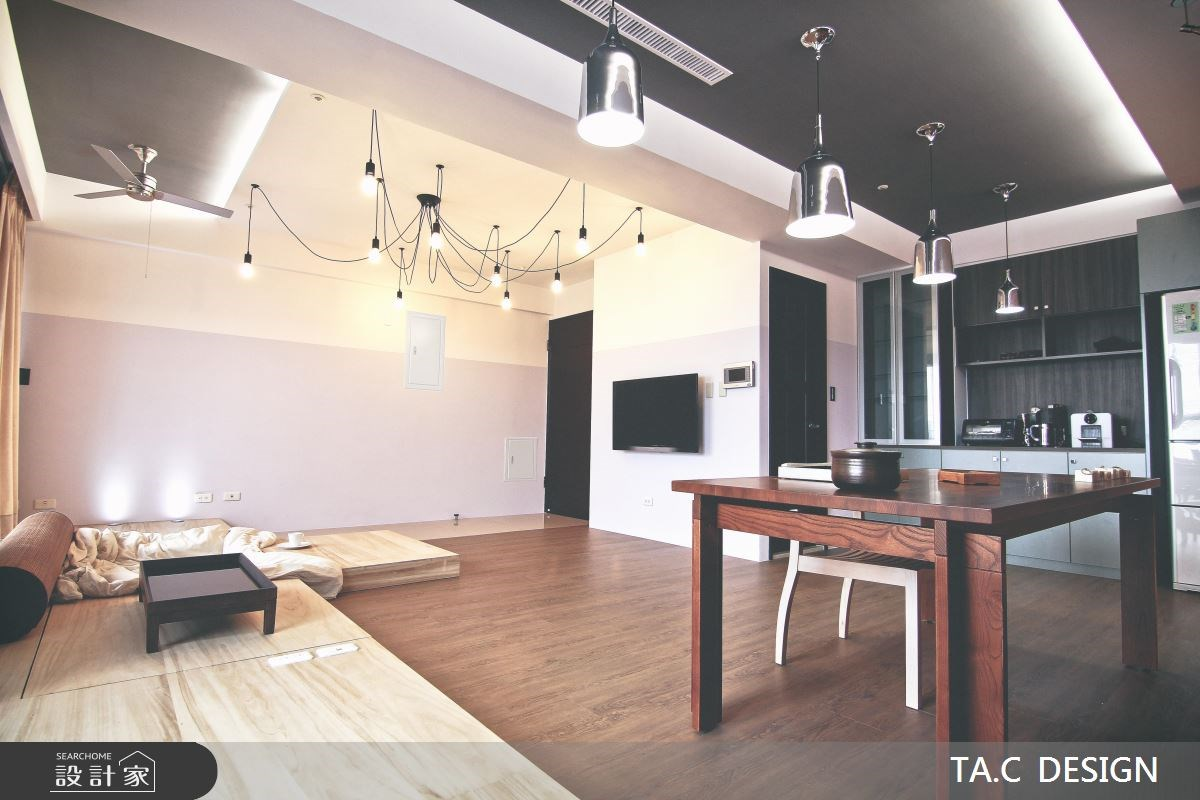 25坪新成屋(5年以下)_混搭風客廳餐廳廚房工作區案例圖片_太工創作設計_太工_01之6
