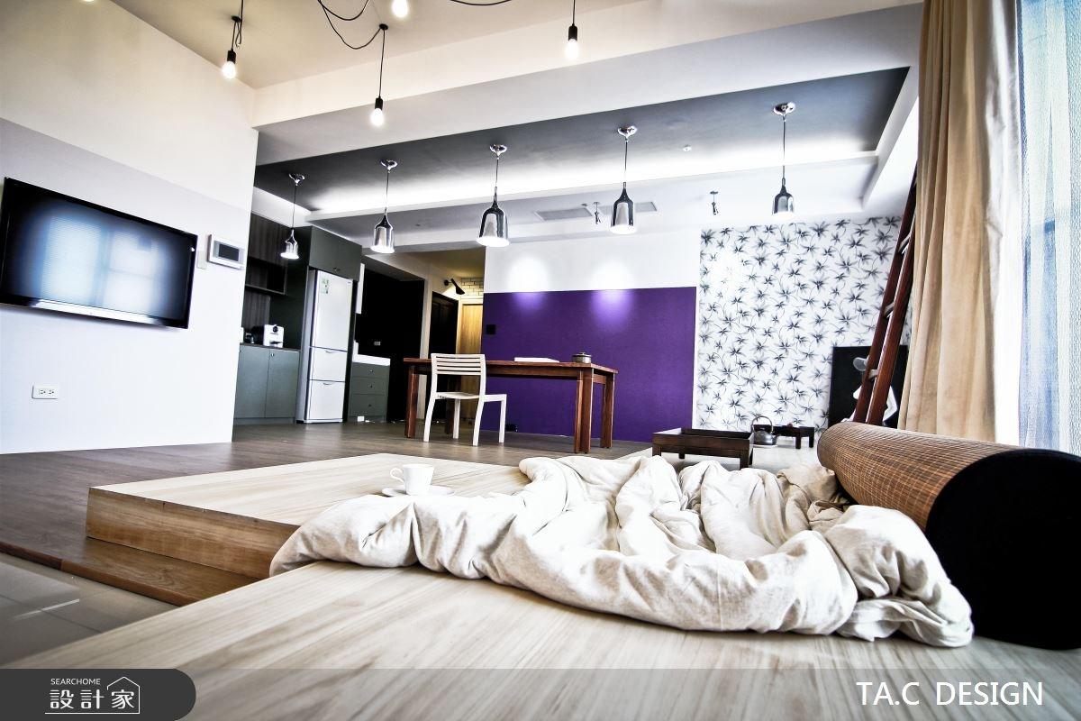 25坪新成屋(5年以下)_混搭風客廳餐廳廚房工作區案例圖片_太工創作設計_太工_01之12