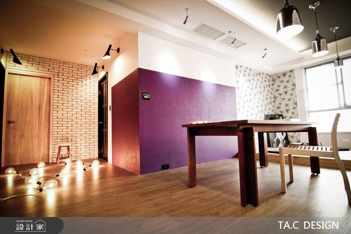 25坪新成屋(5年以下)_混搭風玄關餐廳工作區案例圖片_太工創作設計_太工_01之13