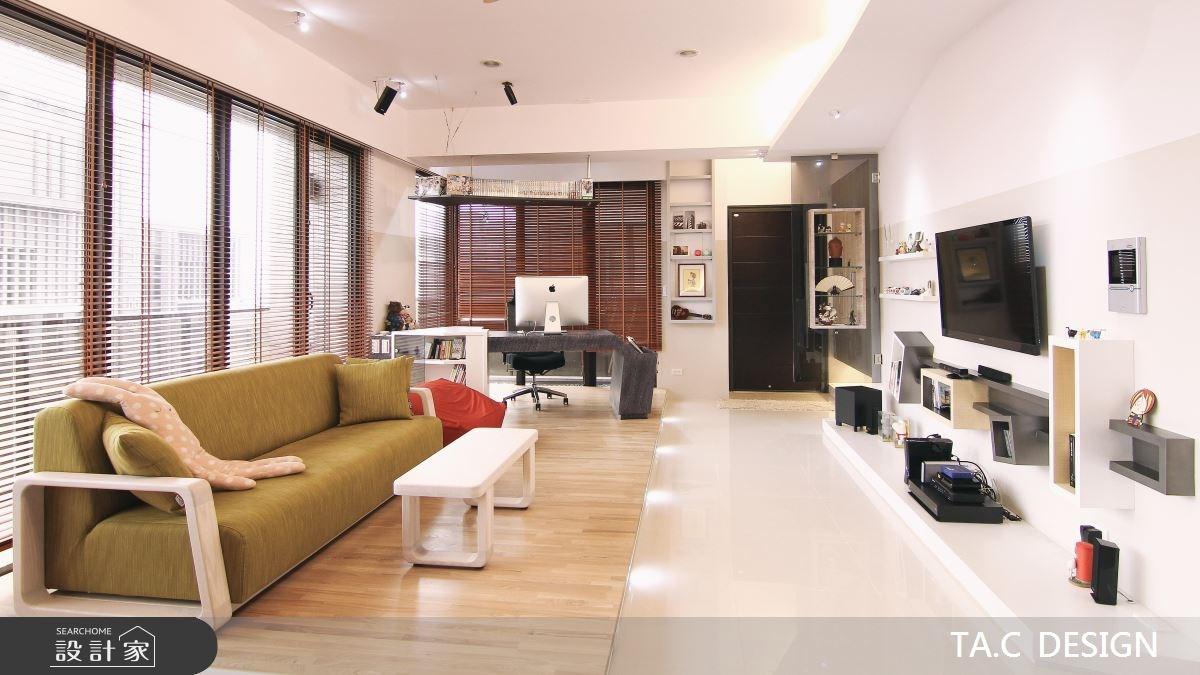 25坪新成屋(5年以下)_北歐風客廳工作區案例圖片_太工創作設計_太工_02之3