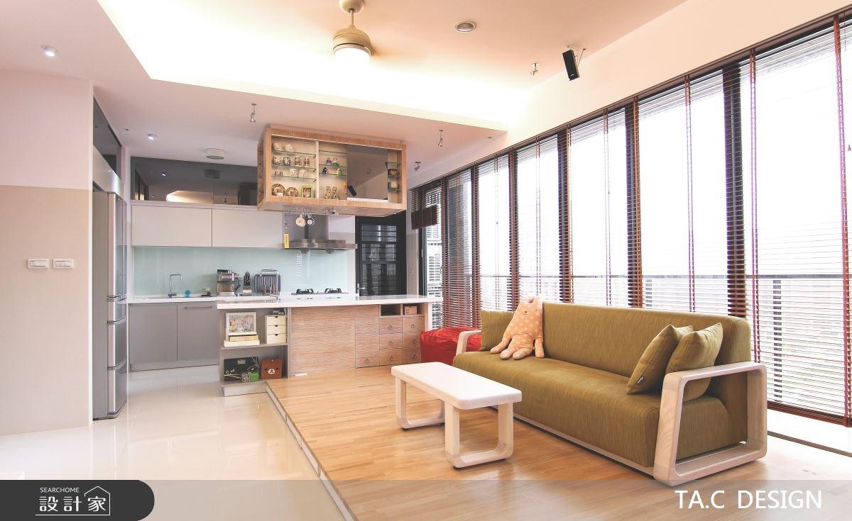 25坪新成屋(5年以下)_北歐風客廳廚房吧檯案例圖片_太工創作設計_太工_02之4
