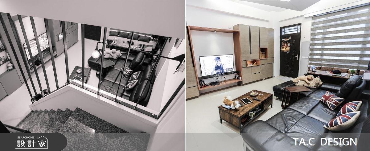 42坪新成屋(5年以下)_現代風玄關客廳樓梯案例圖片_太工創作設計_太工_11之4