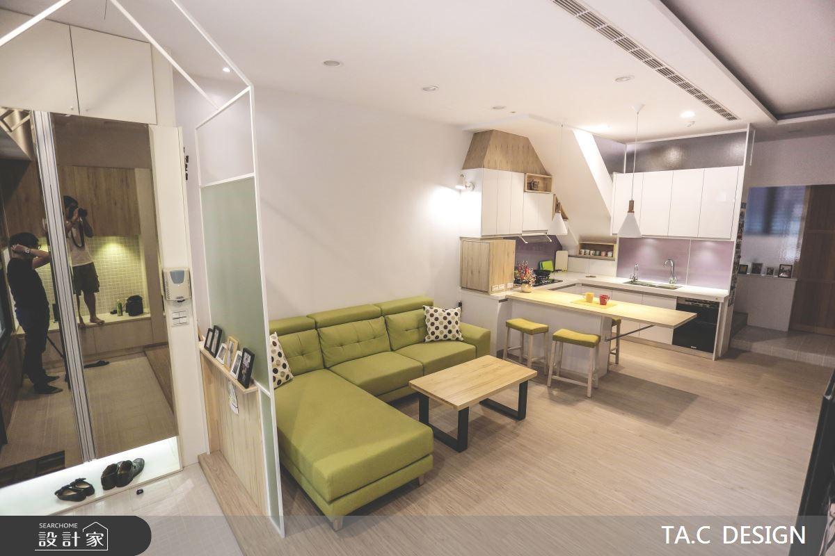 43坪老屋(16~30年)_北歐風玄關客廳餐廳廚房案例圖片_太工創作設計_太工_19之2