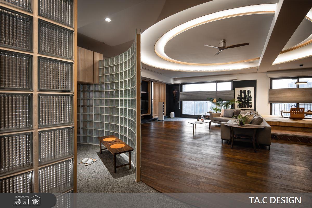 80坪新成屋(5年以下)_人文禪風玄關客廳餐廳和室案例圖片_太工創作設計_太工_24之2