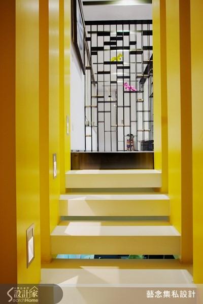 81坪新成屋(5年以下)_混搭風樓梯案例圖片_藝念集私空間設計_藝念集私_27之1