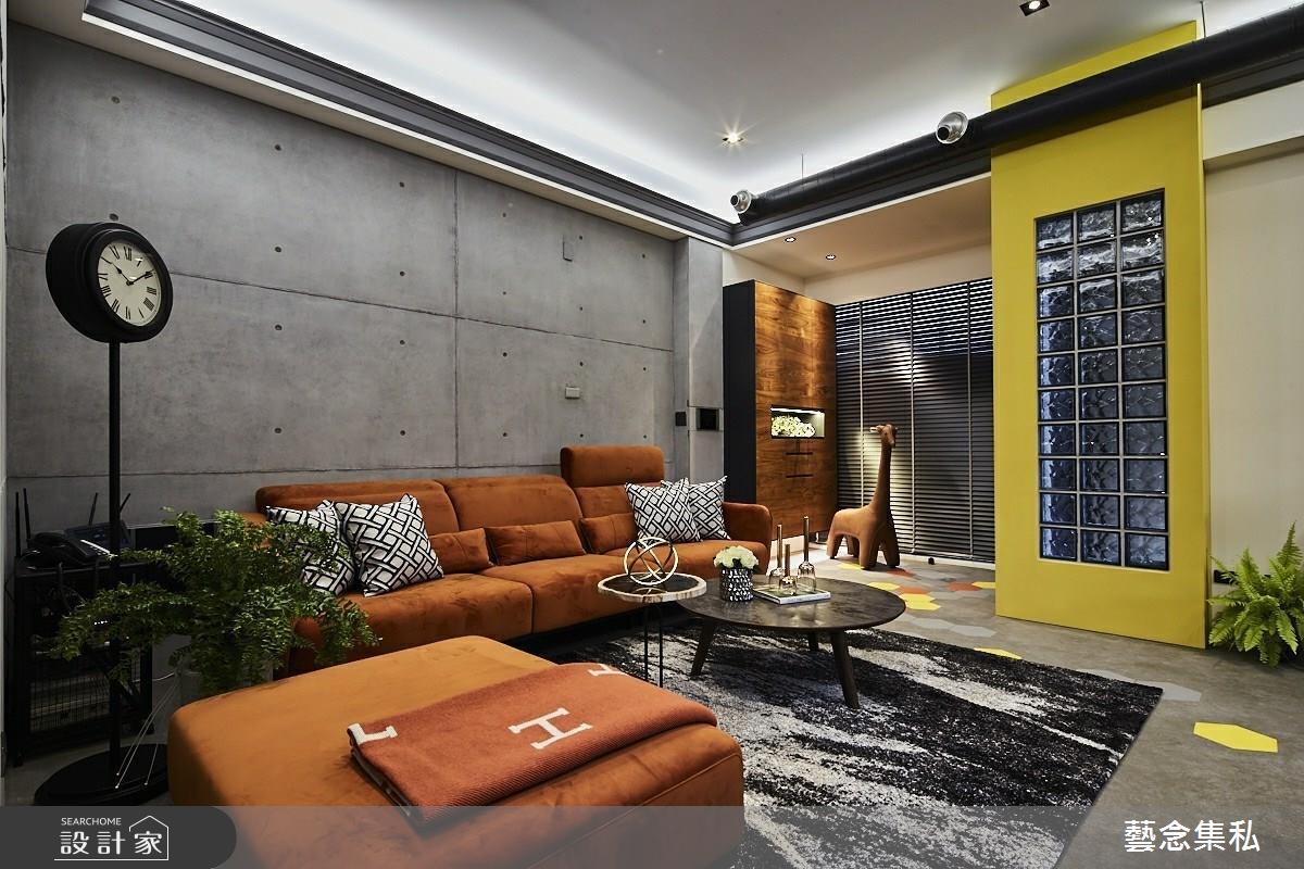 129坪新成屋(5年以下)_混搭風客廳案例圖片_藝念集私空間設計_藝念集私_46之3