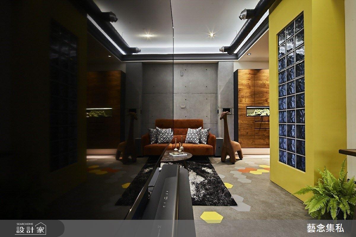 129坪新成屋(5年以下)_混搭風客廳案例圖片_藝念集私空間設計_藝念集私_46之4