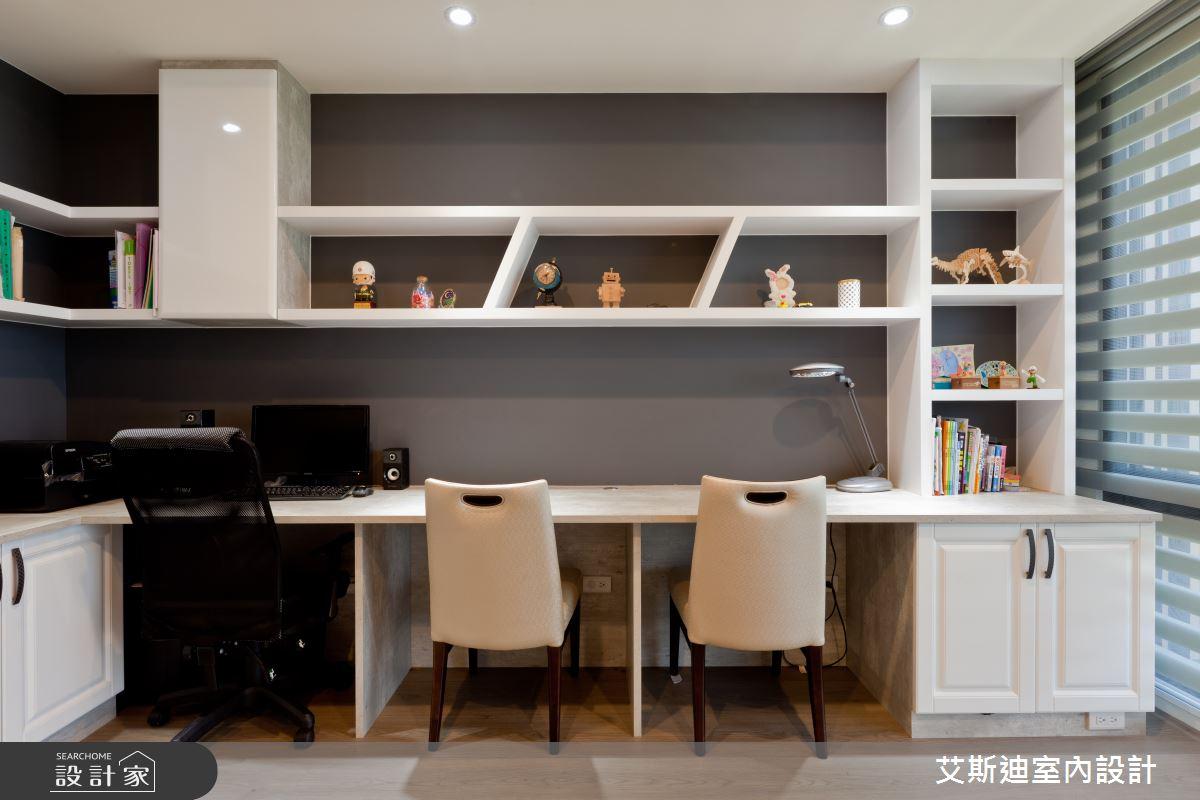 53坪新成屋(5年以下)_鄉村風書房案例圖片_艾斯迪室內設計_艾斯迪_04之20